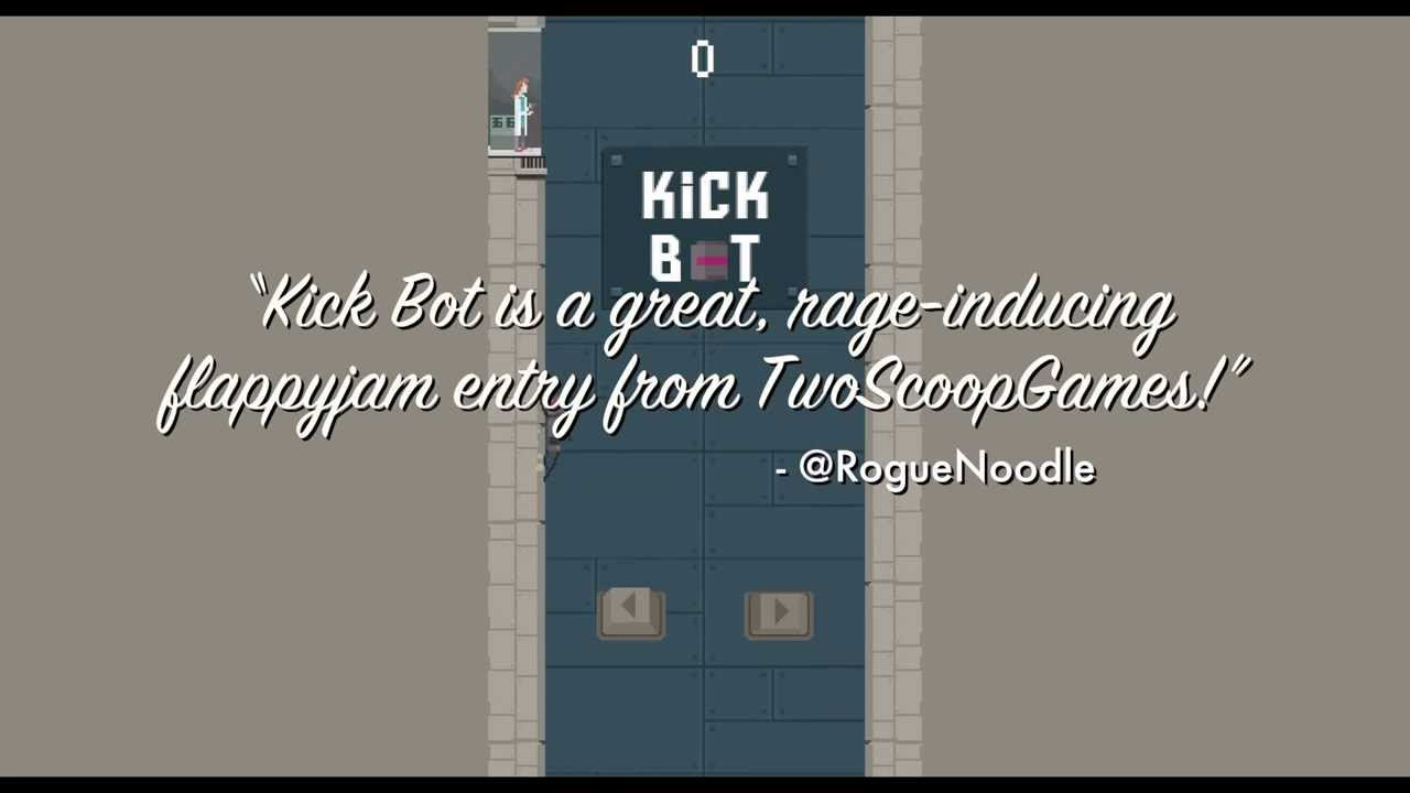 Kick Bot -- a Flappy Jam game that will really kick your bot!