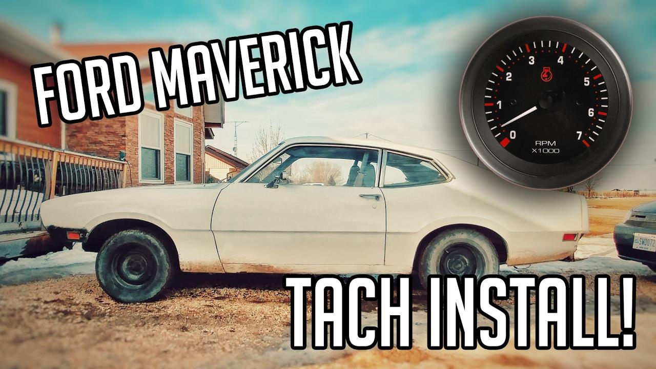 small resolution of ford maverick tachometer install rath motors ep 9