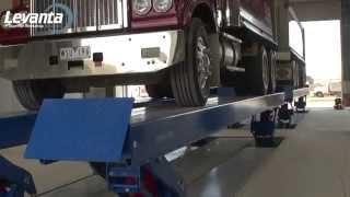 Heavy Duty Twin Platform Truck Lift | Levanta