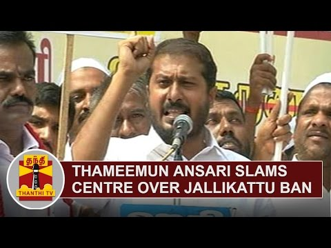 Thameemun Ansari slams Centre over Jallikattu Ban in Tamil Nadu | Thanthi TV