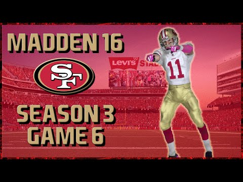 Madden 16 Franchise: San Francisco 49ers | Year 3, Game 6 @ Jaguars (Superbowl Preview?)