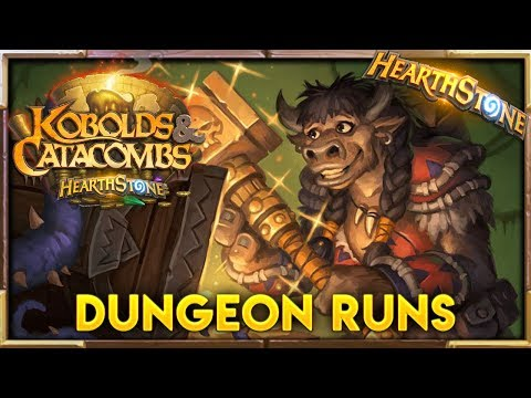 Kobolds And Catacombs FIRST DUNGEON RUNS!!| Hearthstone