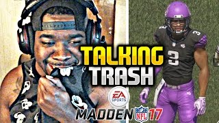 MAN WEARS NFL SHOULDER PADS AND EYE PAINT TO PLAY Madden 17 WTF !!! Madden NFL 17