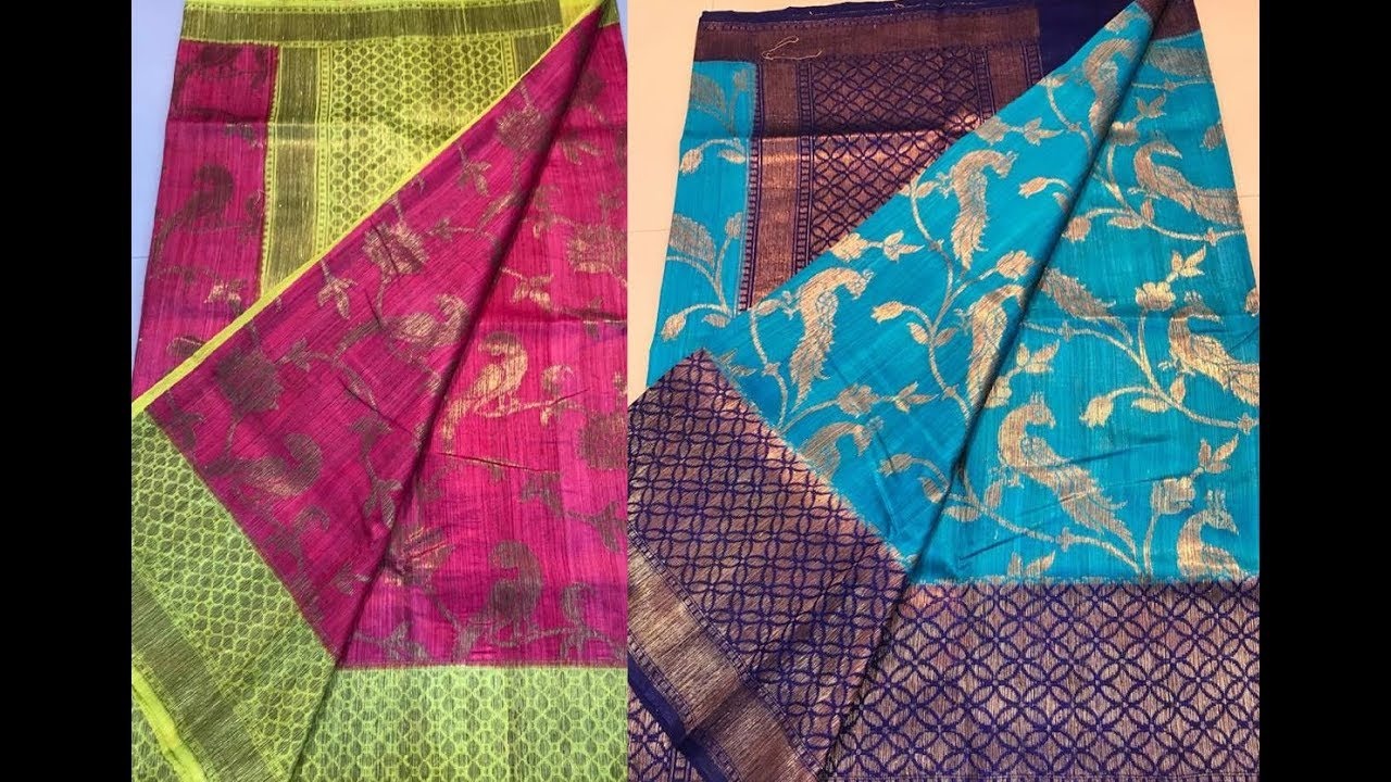 1e59d272ae Latest Dupion Silk Sarees Designs || Banarasi Dupion Silk Sarees Best Price