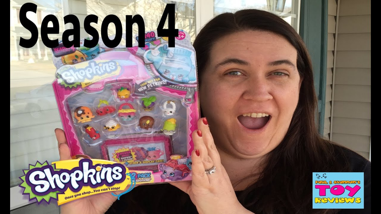 Season 4 shopkins new 12 pack petkins ultra rare toy unboxing