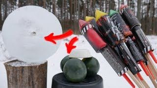 2 AWESOME EXPERIMENTS with FIREWORKS ROCKETS thumbnail