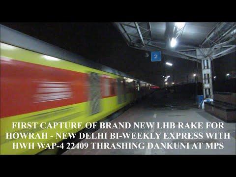 [HD] INDIAN RAILWAYS: Brand New LHB Rake WAP-4 Howrah- New Delhi Superfast Express at High Speed!!