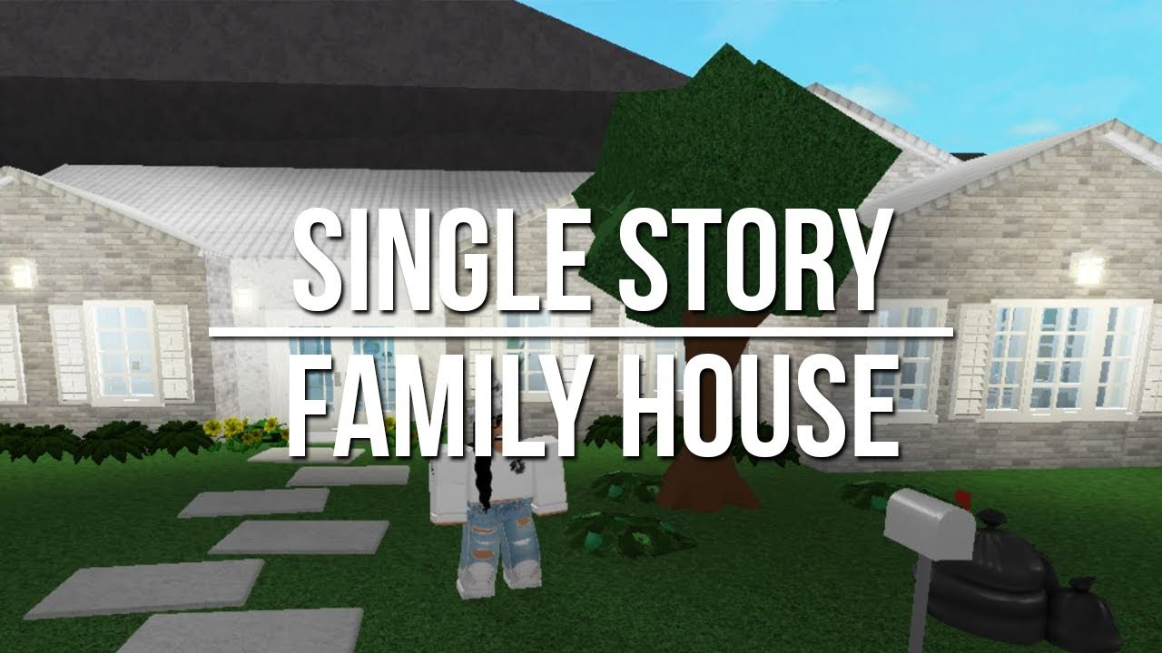Roblox Welcome To Bloxburg Single Story Family House 90k