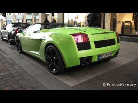 CRAZY Lamborghini Gallardo Spyder Revving LOUD