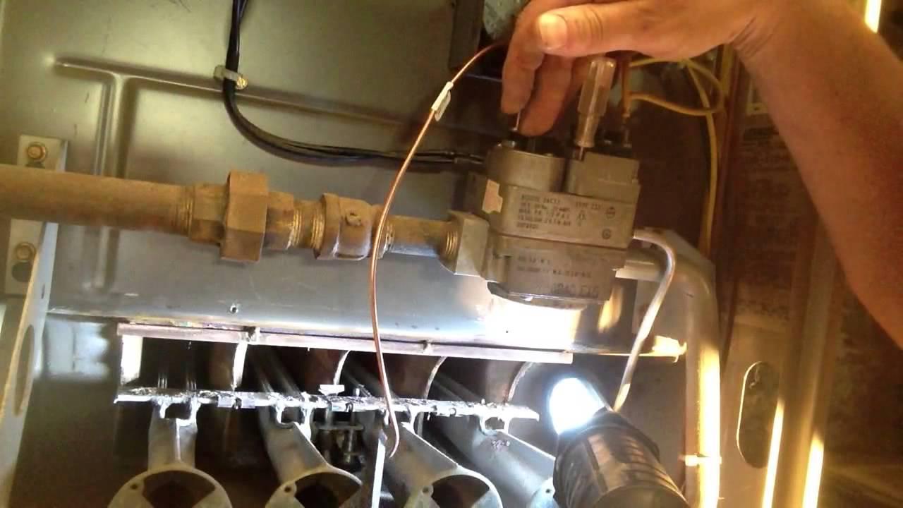 Light Wiring Diagram Pdf How To Adjust Furnace Pilot Light Youtube