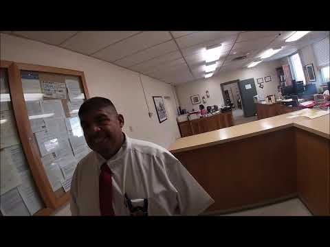 Clerk of Court says she won't answer questions... Crane County Courthouse, Texas