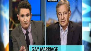 Aussie Conservatives rally against Gay Marriage.