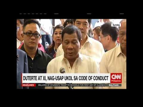 Duterte at Xi, nag-usap ukol sa code of conduct