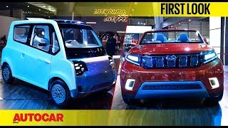 Mahindra Stinger Concept SUV & EV's | Auto Expo 2018 | First Look | Autocar India