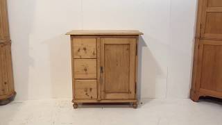 Small Antique Store/Larder Cupboard - Pinefinders Old Pine Furniture Warehouse