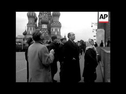 DRIBERG AND BURGESS IN MOSCOW - NO SOUND