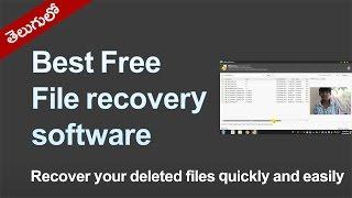 Best Free File recovery software | Recuva | Tutorial in telugu