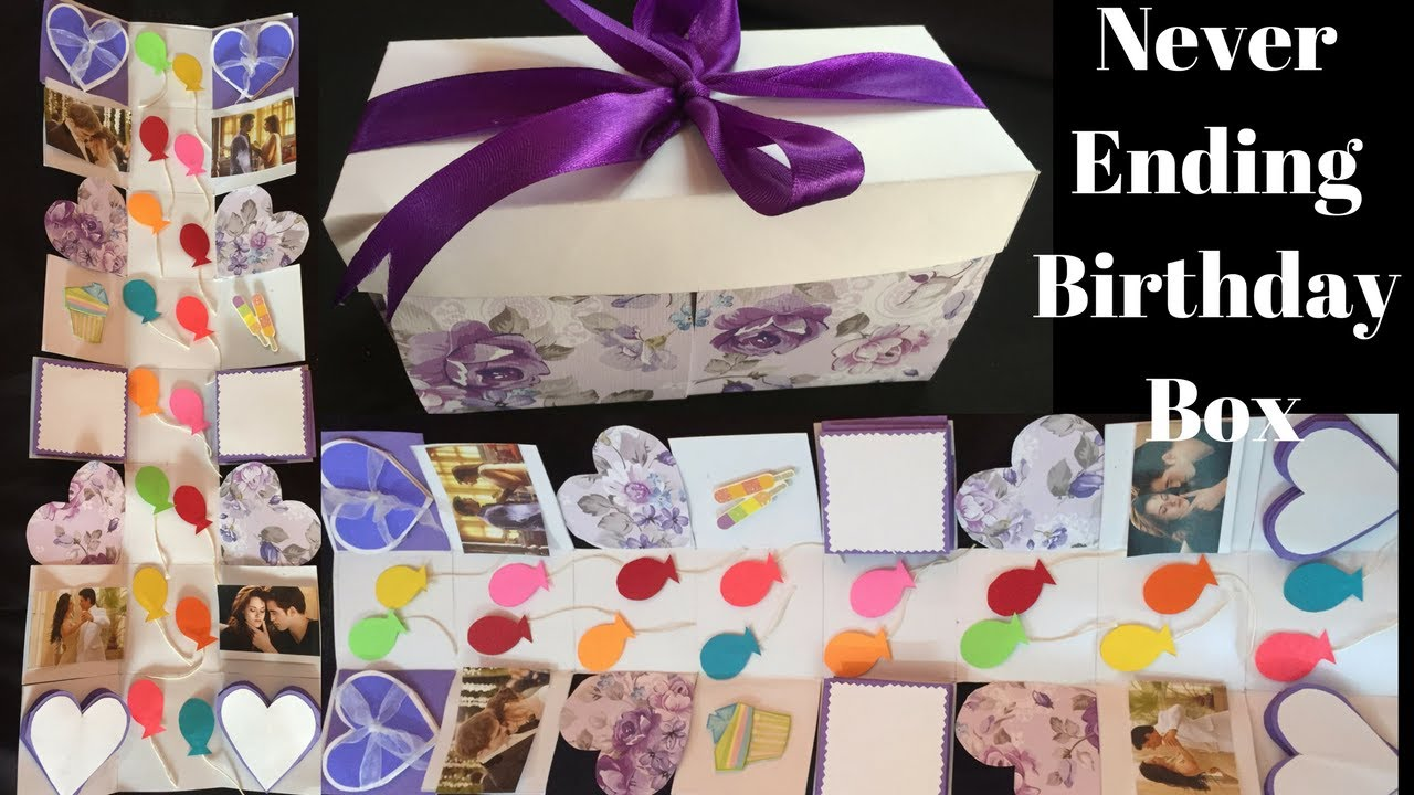 Infinity Birthday Explosion Box