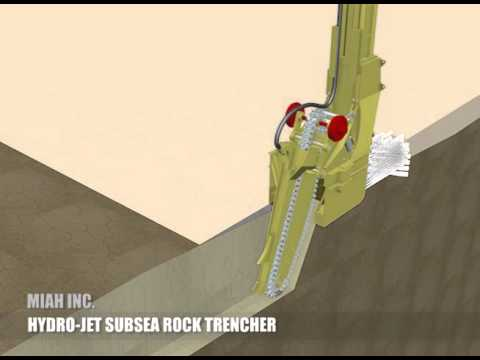 MIAH TRENCHERS HYDRO JET SUBSEA ROCK TRENCHER