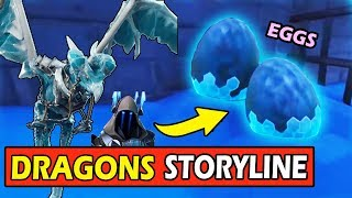 *DRAGON EGGS UNDER THE ICEBERG* FORTNITE SEASON 7 SECRET STORYLINE (SNOWFALL)
