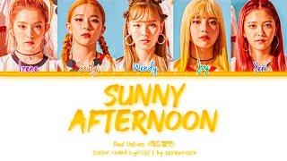 Red Velvet 'Sunny Afternoon' Lyrics (레드벨벳 Sunny Afternoon 가사…