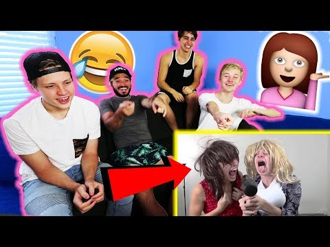 REACTING TO SAMANTHA AND COLLEEN w/ MY ROOMMATES (Dressing as Girls)