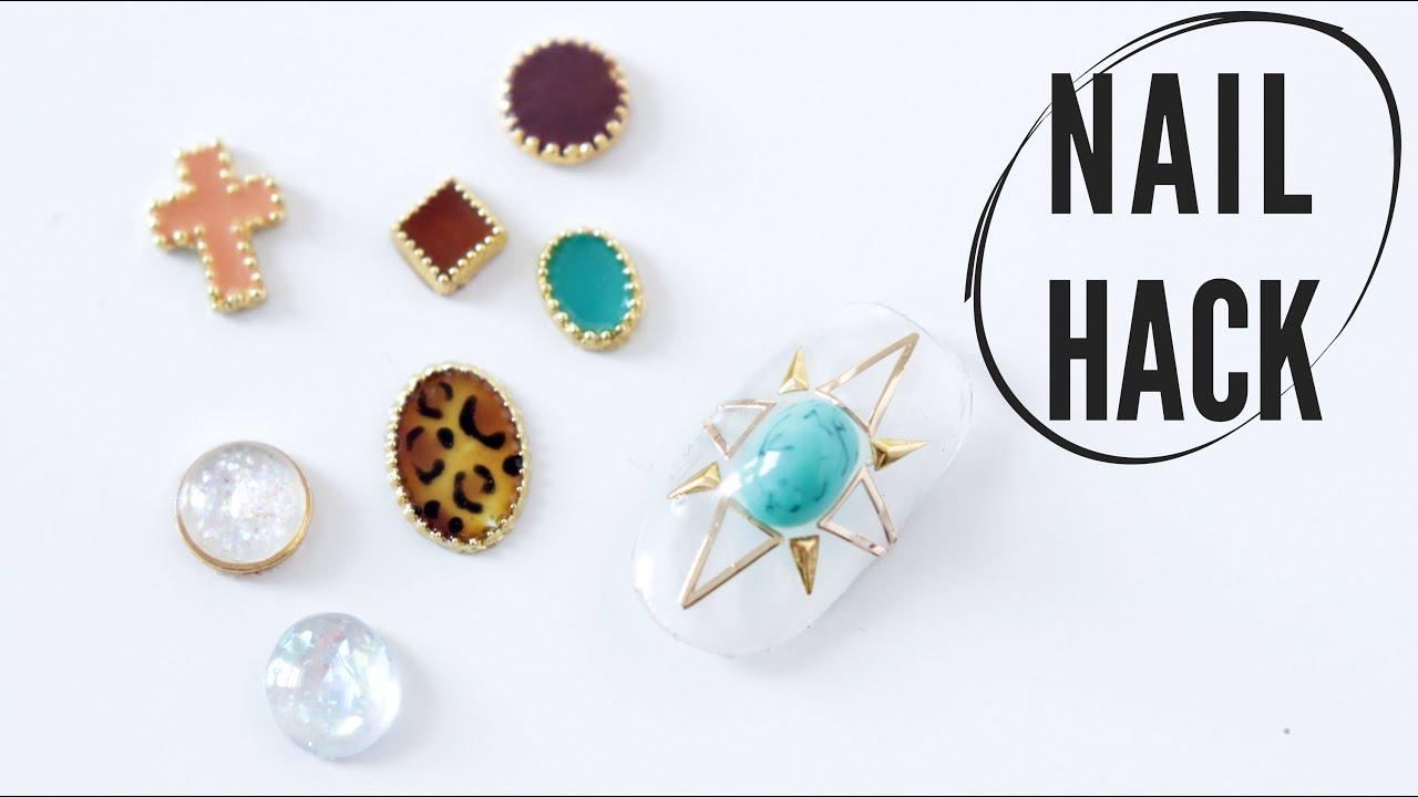 NAIL HACK | DIY 3D NAIL JEWELRY - YouTube