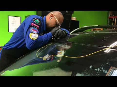 Safe Windshield Replacement 2008 GL550 Using The Glassbot By Alfedos Auto Glass Repair In Corona CA