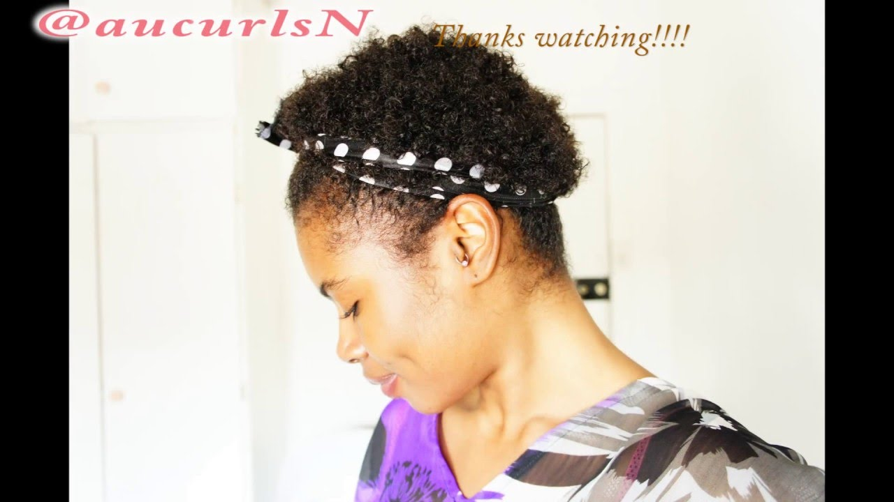 TWA hair styles  Tips and tricks with a Headband   alice band for short  natural hair - YouTube 51b1d6624e3