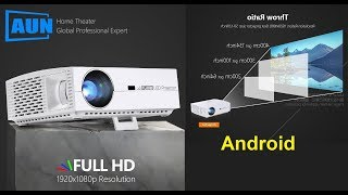 AUN F30 Smart Projector LED Full HD 5500 Lumens Home Theater