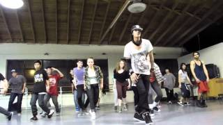 Les Twins Workshop in SF 3/7 - Larry marks the steps and Laurent jokes around