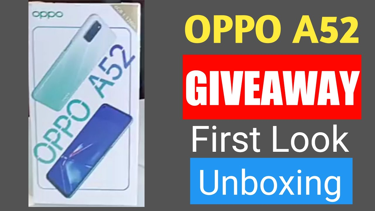 Oppo A52 Giveaway 🤩🤩 , Unboxing 🔥🔥