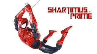 marvel legends spider man 12 inch series 1 6 scale marvel comics hasbro toy action figure review