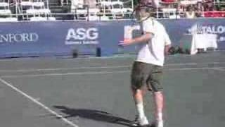 John McEnroe Throwing His Racquet at Age 49