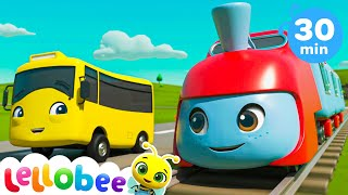 Animals Train Song!   Lellobee: Nursery Rhymes & Baby Songs   Learning Videos For Kids