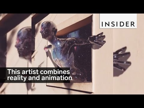 This artist combines reality and animation