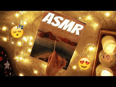 АСМР Листаю журнал о путешествиях. Близкий шепот с ушка на ушко. ASMR Трэйсинг, движения рук.
