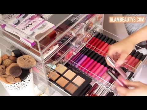 Glamourqueen Luxury Acrylic Makeup Organiser: Makeup and Vanity Spring Clean by Liza Prideaux