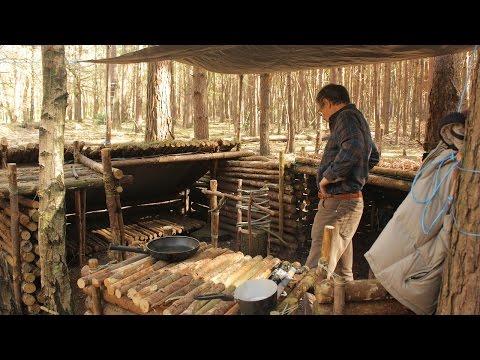 Fishing & Bushcraft - Catch, Kill & Cook on a Campfire