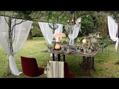 Altar de novios en un casamiento campestre - Argenprop ART y DECO