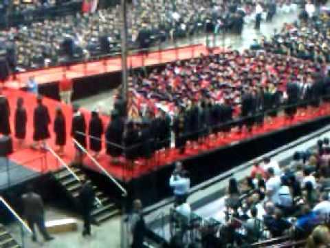 Charity graduates from Ohio State University