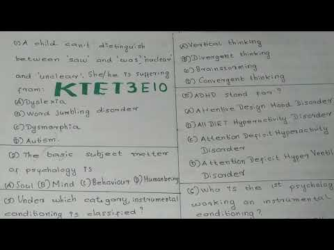 KTET Category 3 previous year question papers||KTET online