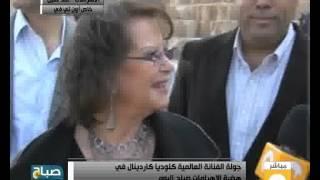 شاهد.. كلوديا كاردينالى من الأهرامات: مصر الأمن والأمان