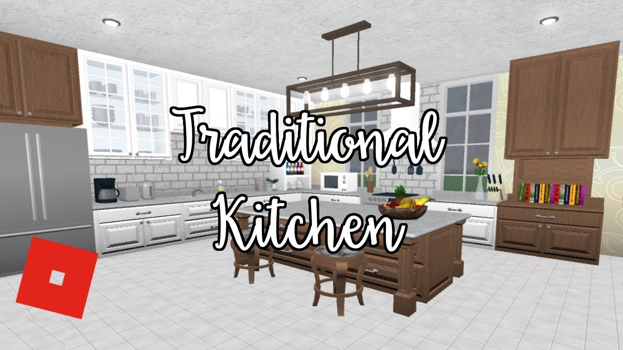 Welcome to bloxburg traditional kitchen speed build doovi for Kitchen designs bloxburg