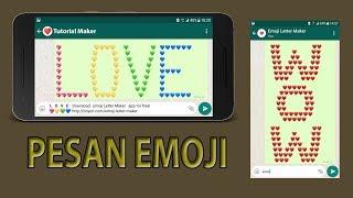 Cara Membuat Pesan Emoticon Whatsapp Keren