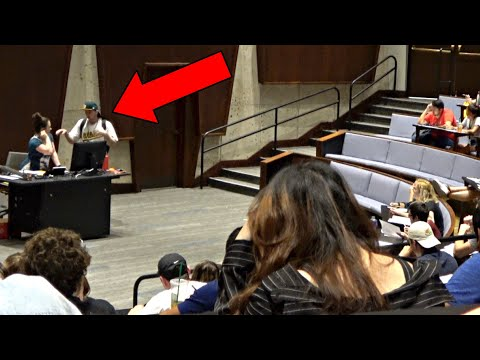 PICKING UP COLLEGE PROFESSORS IN LECTURES!