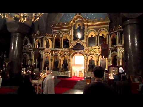 Helsinki - service in the orthodox Uspenski church