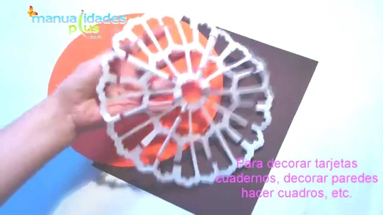 Mandalas de papel calados manualidades con papel for Decoracion con papel