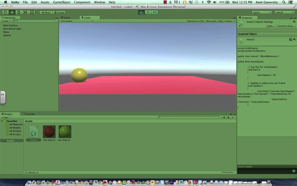 How to make objects move and collide using C# Unity3D