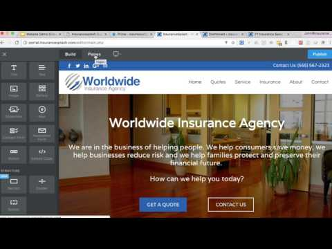 Insurance Agency Website CMS Demo - InsuranceSplash